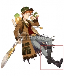 Atelier Sophie: The Alchemist of the Mysterious Book Oskar Behlmer A18 Black Shoes Cosplay Boots