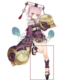 Atelier Sophie: The Alchemist of the Mysterious Book Corneria Black Cosplay Shoes