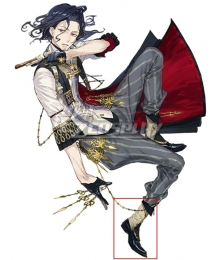 Atelier Sophie: The Alchemist of the Mysterious Book Harold Siemens Black Cosplay Shoes