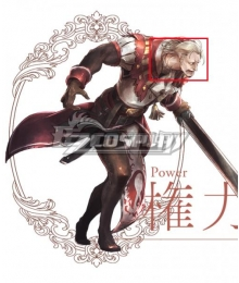 Octopath Traveler Conquerors Of The Continent Titus Silver Cosplay Wig