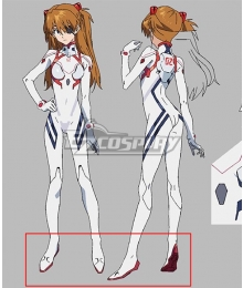 Neon Genesis Evangelion 3.0 + 1.0 EVA Asuka Langley White Cosplay Shoes