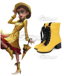 Identity V Doctor Emily Dyer Rhythm of The Rain Halloween Yellow Shoes Cosplay Boots