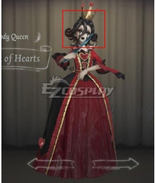 Identity V Bloody Queen Mary Queen of Hearts Black Halloween Cosplay Wig