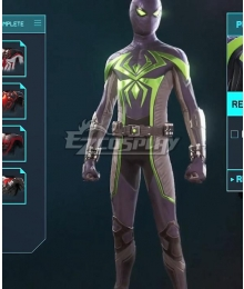 PS5 Marvel 2021 Spider-Man: Miles Morales Purple Reign Cosplay Costume