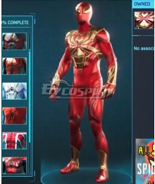 PS5 Marvel 2021 Spider-Man: Miles Morales Iron Spider Armour Cosplay Costume