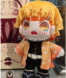 Demon Slayer: Kimetsu No Yaiba Agatsuma Zenitsu Plush Doll Cosplay Accessory Prop