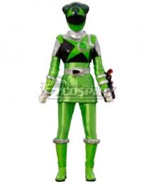 Power Rangers Uchu Sentai Kyuranger Chameleon Green Cosplay Costume