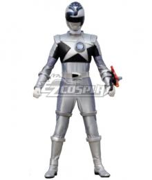 Power Rangers Uchu Sentai Kyuranger Hebitsukai Silver Cosplay Costume