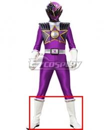 Power Rangers Uchu Sentai Kyuranger Ryu Violet Shoes Cosplay Boots