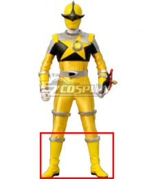 Power Rangers Uchu Sentai Kyuranger Kajiki Yellow Shoes Cosplay Boots