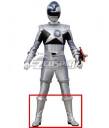 Power Rangers Uchu Sentai Kyuranger Hebitsukai Silver Shoes Cosplay Boots