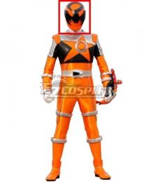 Power Rangers Uchu Sentai Kyuranger Sasori Orange Helmet Cosplay Accessory Prop