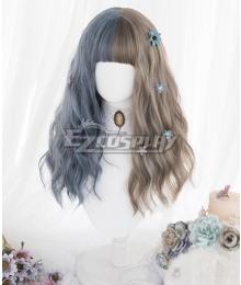 Japan Harajuku Lolita Series Blue Brown Cosplay Wig
