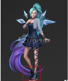 League Of Legends LOL 2020 KDA K/DA Seraphine Black Cosplay Shoes