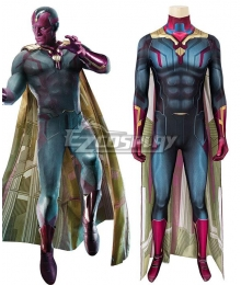 Marvel Avengers: Endgame Vision Zentai Jumpsuit Cosplay Costume