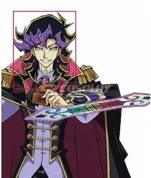 Yu-Gi-Oh! VRAINS Ai Human Black Purple Cosplay Wig