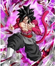 Super Dragon Ball Heroes Black Goku SSJ4 Cosplay Costume