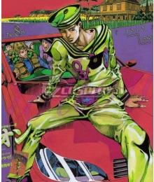 JoJo's Bizarre Adventure JoJolion Josuke Higashikata Green Cosplay Costume
