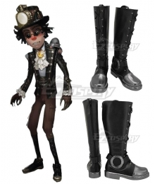 Identity V Prospector Norton Campbell Mr. Mole Black Shoes Cosplay Boots