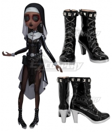 Identity V Enchantress Patricia Dorval Reservist Black Cosplay Shoes
