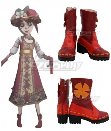 Identity V Gardener Emma Woods Spring Demon Red Cosplay Shoes