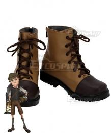 Identity V Mercenary Naib Subedar Spring Hand Brown Cosplay Shoes