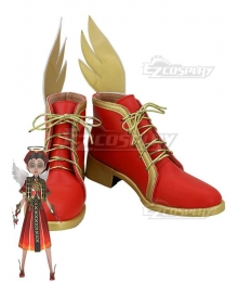 Identity V Doctor Emily Dyer Flaming Angel Red Cosplay Shoes
