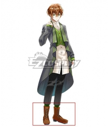 Clock over ORQUESTA Azusawa Mito Brown Shoes Cosplay Boots