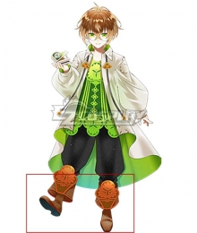Clock over ORQUESTA Azusawa Mito Neverland Brown Shoes Cosplay Boots