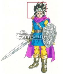Dragon Quest III Hero Erdrick Black Cosplay Wig