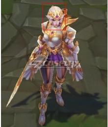 League of Legends LOL Battle Queen Diana Prestige Golden Cosplay Wig