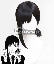 Chainsaw Man Kobeni Higashiyama Black Cosplay Wig