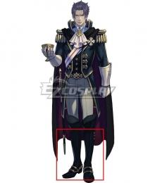 Ace Attorney Dai Gyakuten Saiban: Naruhodo Ryunosuke no Boken Barok van Zieks Black Shoes Cosplay Boots
