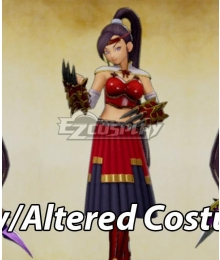 Dragon Quest XI Martina Jade Red Cosplay Costume