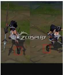 League Of Legends LOL French Maid Nidalee Black Cosplay Shoes