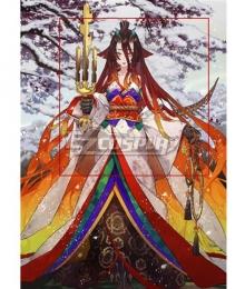 Fate Grand Order FGO Berserker Kijyo Koyo Stage 3 Red Cosplay Wig