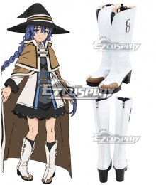 Mushoku Tensei: Jobless Reincarnation Roxy Migurdia Silver Shoes Cosplay Boots