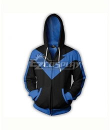 DC Comics Nightwing Robin Dick Grayson Coat Hoodie Cosplay Costume