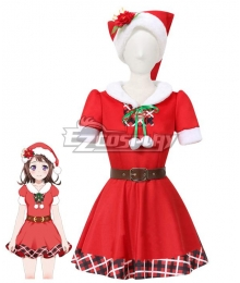 BanG Dream! Poppin' Party Kasumi Toyama Christmas Cosplay Costume