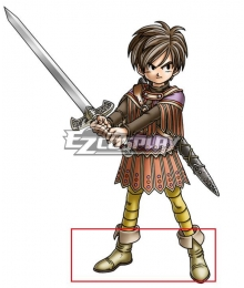 Dragon Quest IX Hero Male Brown Shoes Cosplay Boots