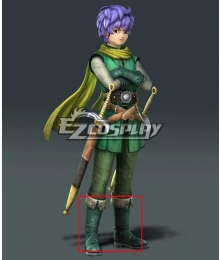 Dragon Quest Heroes II Lazarel Green Shoes Cosplay Boots