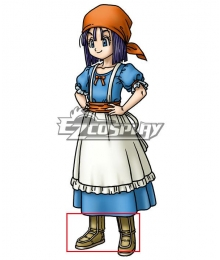 Dragon Quest IX Erinn Brown Shoes Cosplay Boots