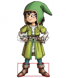 Dragon Quest VIII Hero  Brown Shoes Cosplay Boots