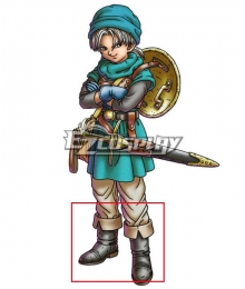 Dragon Quest VI Terry Brown Shoes Cosplay Boots
