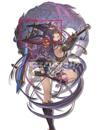Granblue Fantasy Versus Yuel Black Cosplay Wig