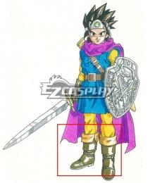 Dragon Quest III Hero Erdrick Brown Shoes Cosplay Boots