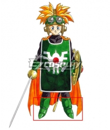 Dragon Quest II Prince of Cannock Green Shoes Cosplay Boots