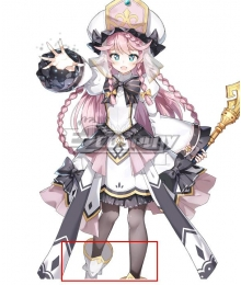 Epic Seven 7 Angelica Silver Shoes Cosplay Boots