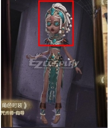 Identity V Enchantress Patricia Dorval Guide Halloween White Cosplay Wig