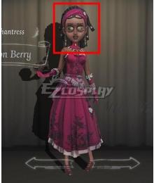 Identity V Enchantress Patricia Dorval Poison Berry Black Halloween Cosplay Wig